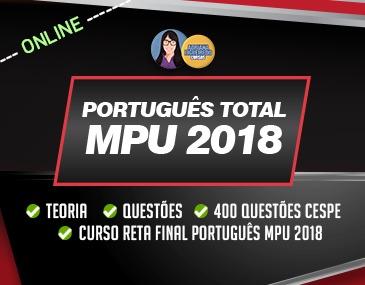 Cespe Total - Português - MPU