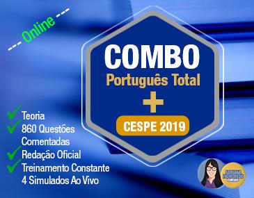 Combo Português Total - Cespe 2019