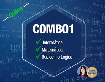 Combo 1 - Informática, Matemática e Raciocínio Lógico