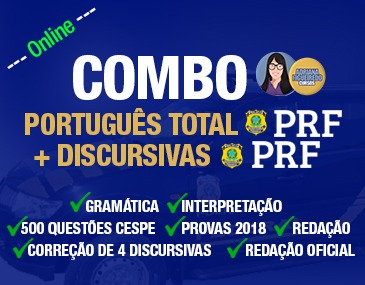 Combo PRF - Português Total + Discursivas PRF
