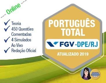Português Total FGV - DPE/RJ - Atualizado 2019