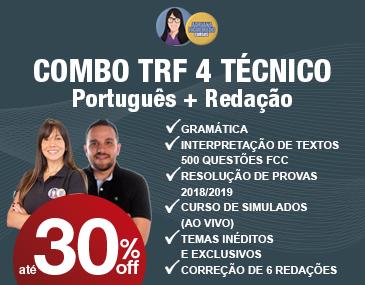 Combo TRF 4: Português + Redação
