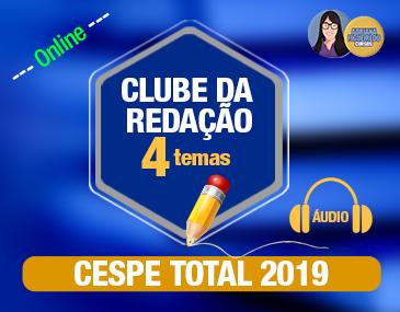 Clube da Redação Correção por Áudio - Cespe