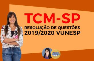 Resolução de Questões - TCM-SP